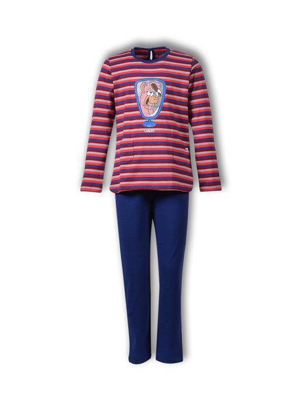 Woody Meisjes-Dames pyjama, S stripe alpaca gestreept