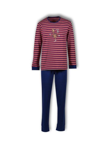 Woody Jongens-Heren pyjama, S stripe alpaca gestreept