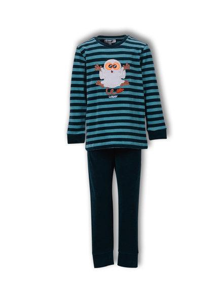 Woody Jongens-Heren pyjama, V stripe tarsier gestreept