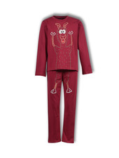 Woody Unisex pyjama, biking red alpaca