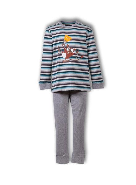 Woody Meisjes-Dames pyjama, S stripe tarsier gestreept
