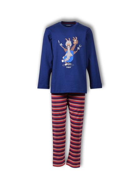 Woody Jongens-Heren pyjama, blue depths alpaca