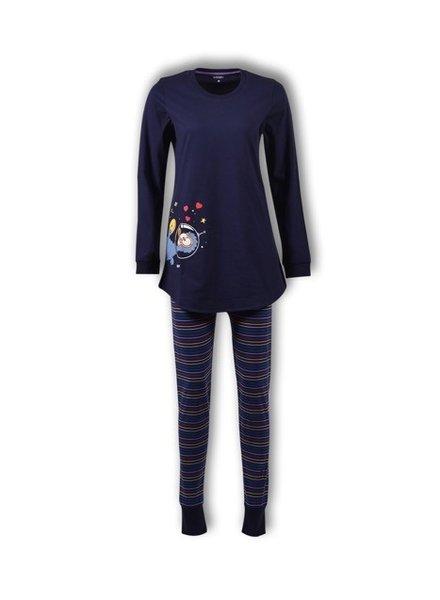 Woody Meisjes-Dames pyjama, peacoat