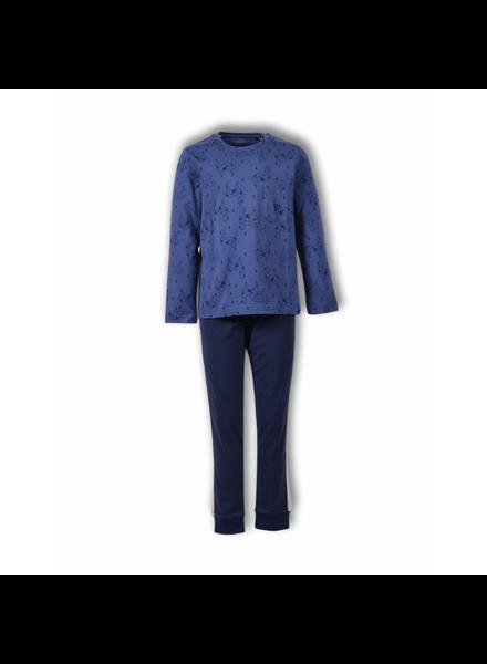 Boyzzz woody Jongens-Heren pyjama, mood indigo