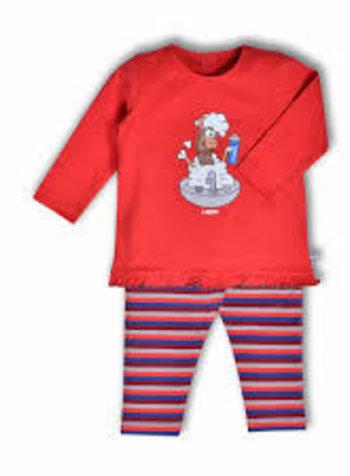 Woody Meisjes pyjama, tomato alpaca
