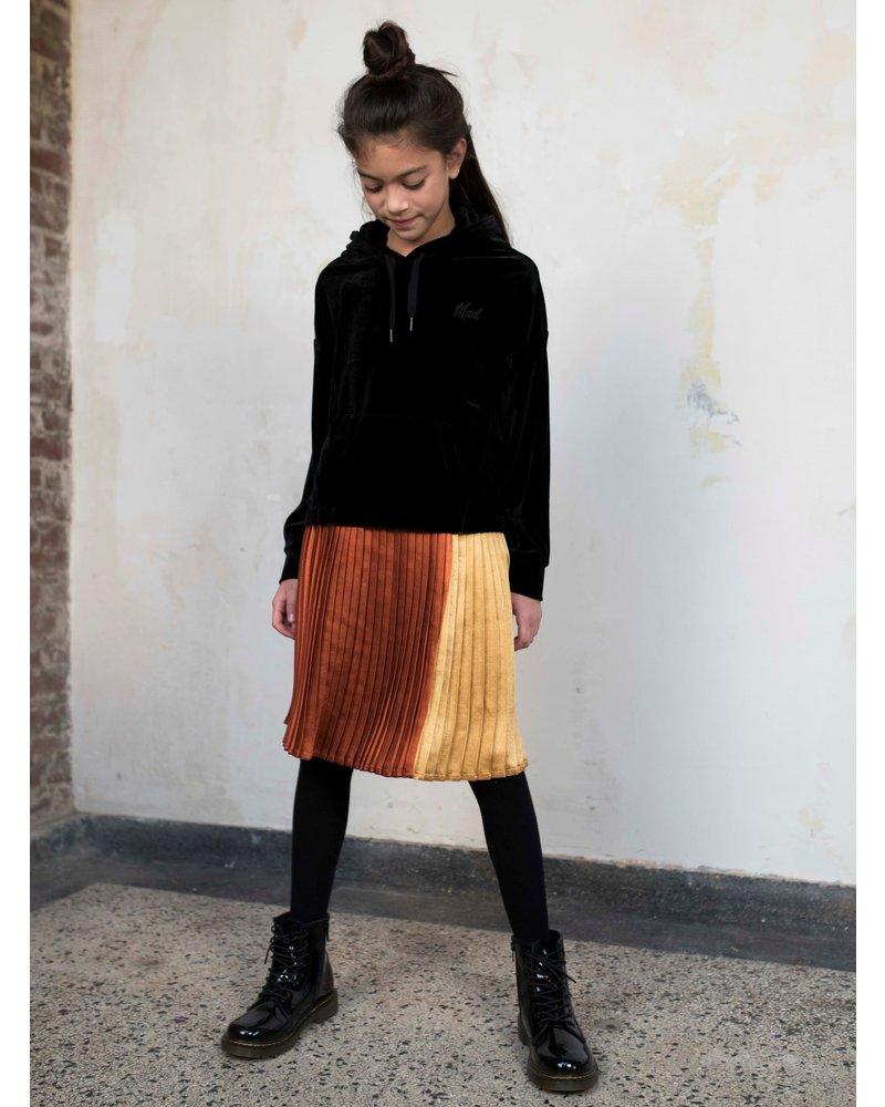Street called Madison Luna satin colourblock pleated midi skirt FOOLS