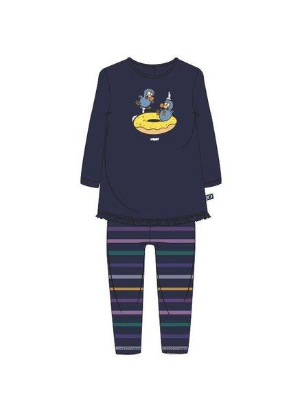 Woody Baby meisjes pyjama donkerblauw dodo