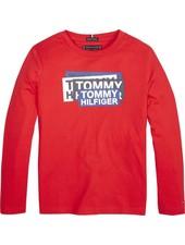 Tommy Hilfiger AJ Sticker print Tee L/S