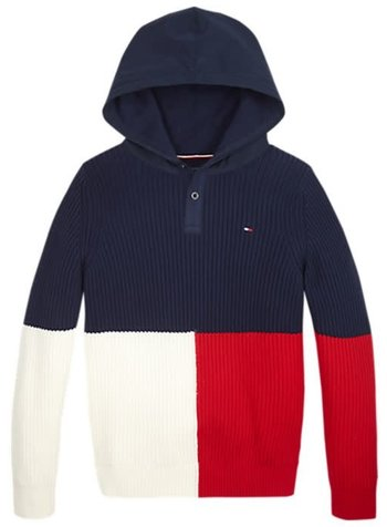 Tommy Hilfiger Colourblock navy hoodie