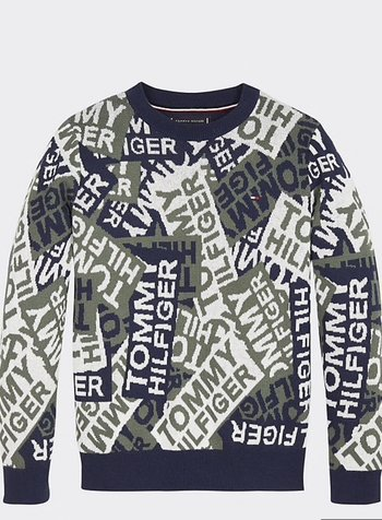 Tommy Hilfiger Intarsia camo sweater