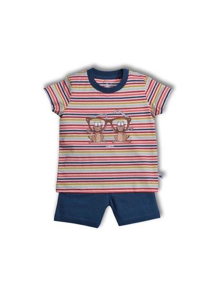 Woody Unisex pyjama, S stripe meerkat gestreept