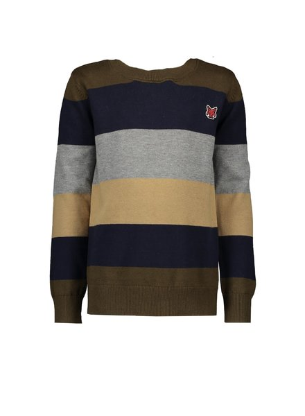 LCEE Pull-over fine knit stripes