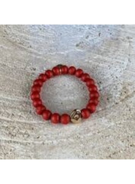 Miracles Bracelet zia red w/ heart
