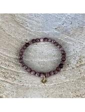 Miracles Bracelet Evelyn brown medium stones