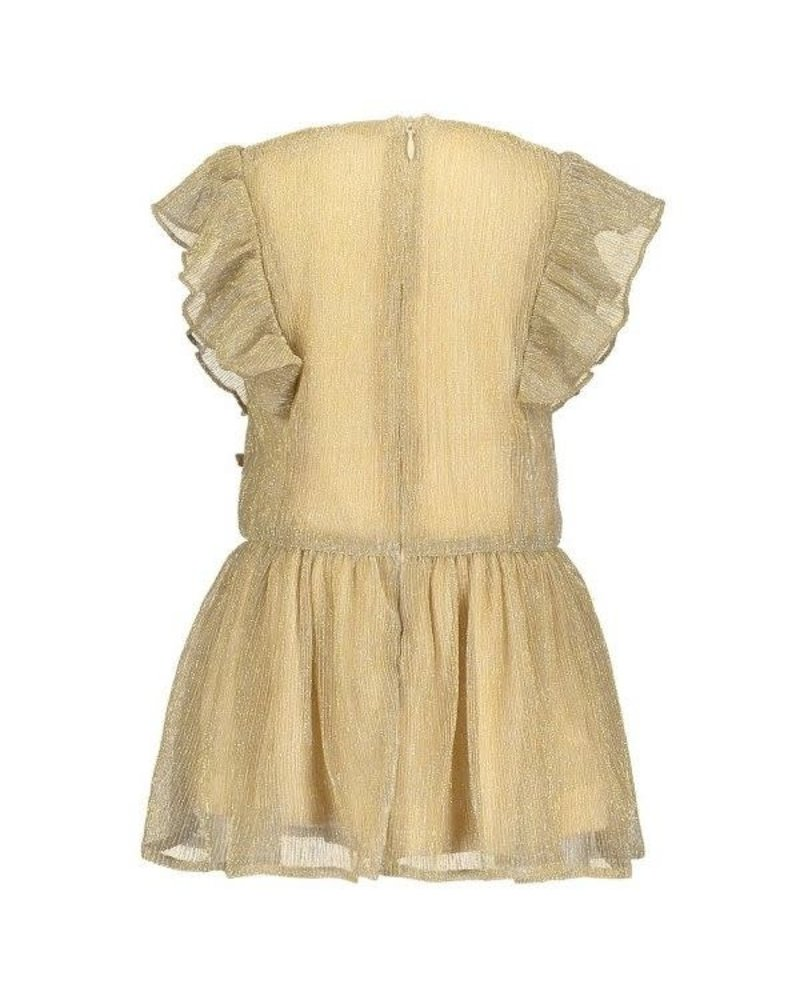 Gold dress pleated glitter
