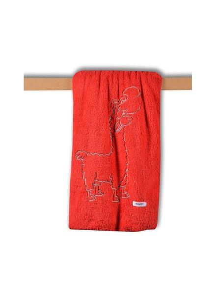 Woody Plaid thema alpaca - tomatenrood