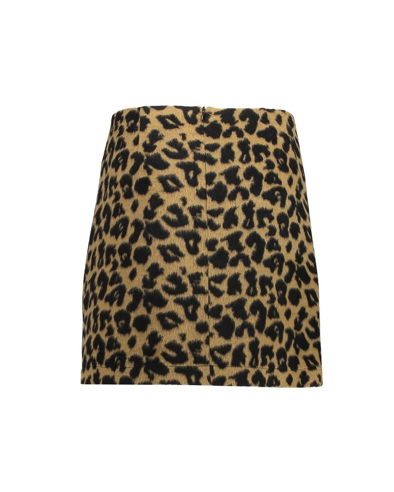 Geisha Skirt AOP leopard