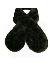 Miracles Faux fur scarf Atlanta animal print khaki