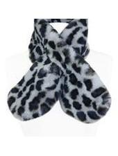 Miracles Faux fur scarf atlanta print grey