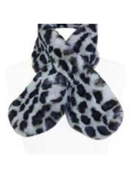 Miracles Faux fur scarf atlanta print grey