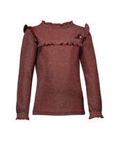 NoNo Kessa glitter tshirt with ruffled details