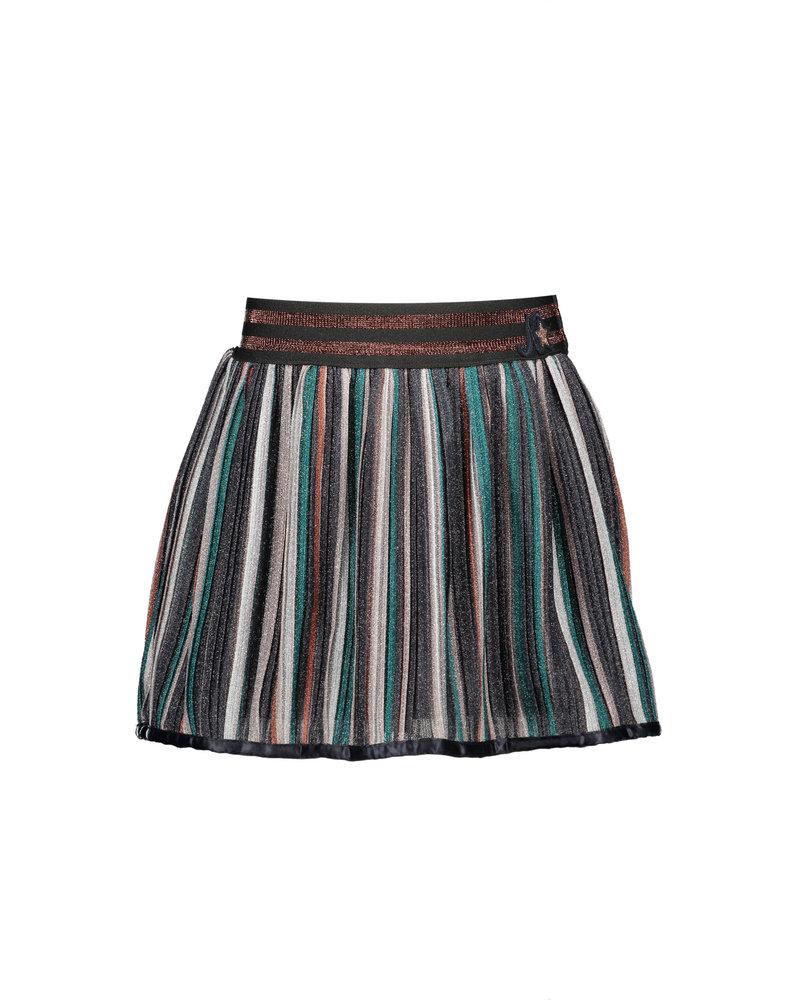 NoNo NikkyB Pleated striped glitter jersey