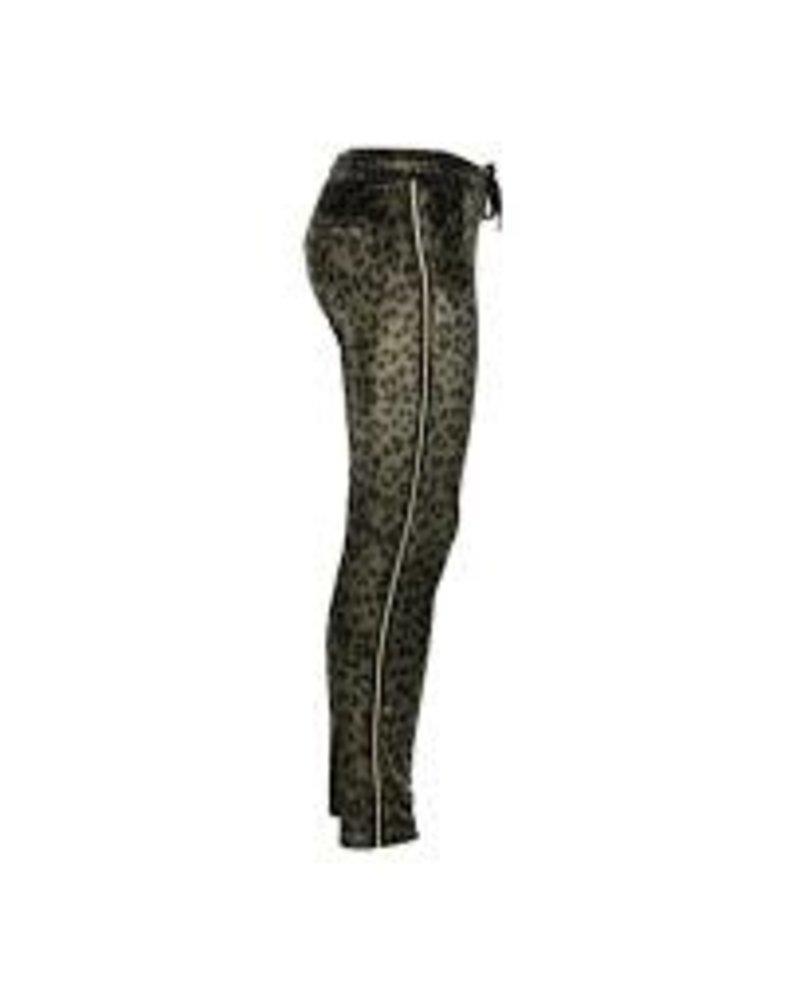 Geisha Pants printed velvet