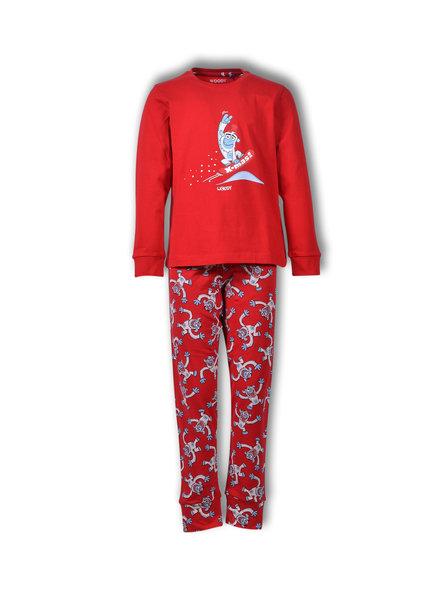 Woody Unisex pyjama Yeti rood