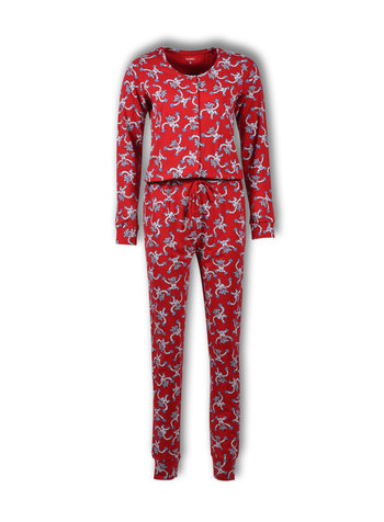 Woody Unisex onesie rood all-over print yeti