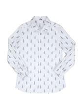 gymp Hemd wit met viooltjes