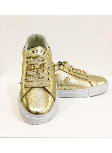 Noalie Lederen sneakers goud