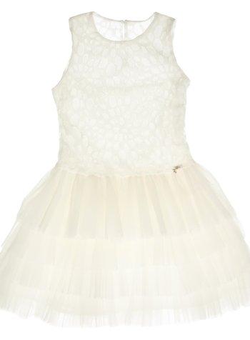gymp wit kleedje met kant en tulle