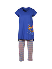 Woody Girls women pyjamas, royal blue giraf