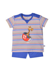 Woody Boys pyjama, multicolour striped giraaf