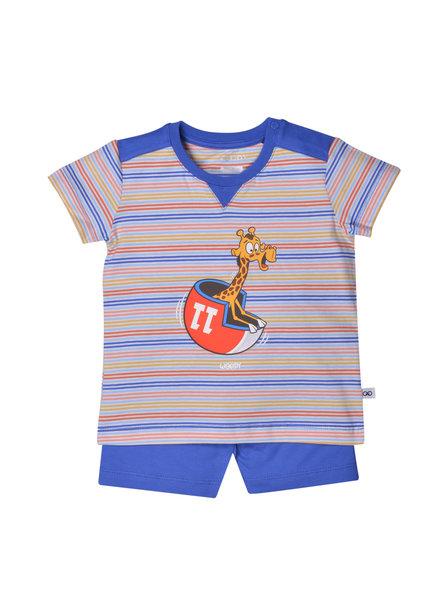 Woody Boys pyjama, multicolour striped giraaf
