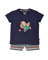 Woody Unisex pyjama, dark blue tijger