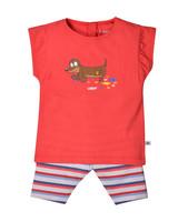 Woody Girls pyjama, red hond