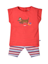 Woody Girls pyjama, red hond