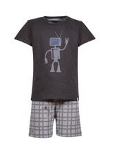 Woody Boys-men pyjamas, dark grey met robot