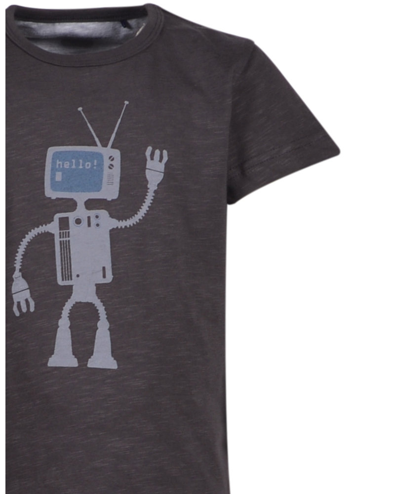 Woody Boys-men pyjamas, dark grey met robot
