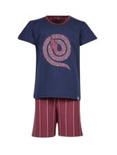Woody Boys-men pyjamas, dak blue slang