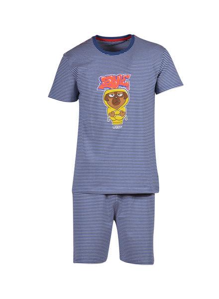 Woody Boys-men pyjamas, navy blue-white striped