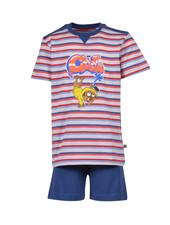 Woody Boys-men pyjamas, red-blue striped