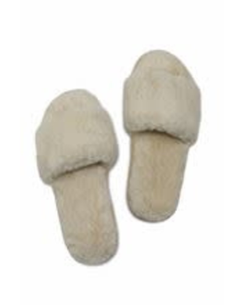 Miracles Faux fur slippers Moscow ecru