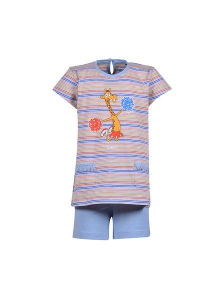 Woody Girls-Women pyjamas, multicolour striped