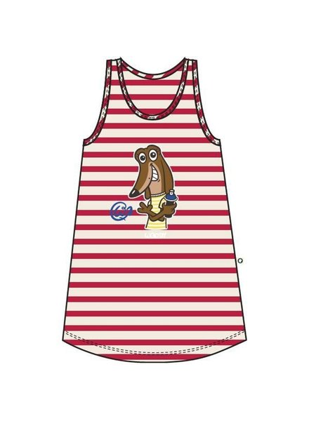 Woody Nightdress, red-white striped hond