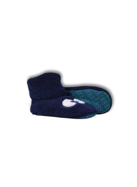 Woody Blauwe pantoffels oogjes