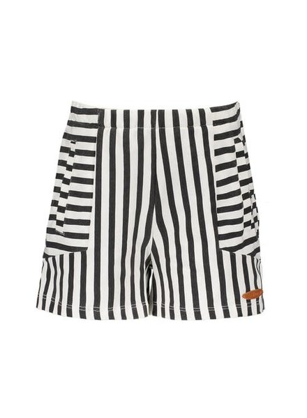 NoNo Seinte striped shrt with side pockets and blind side zipper