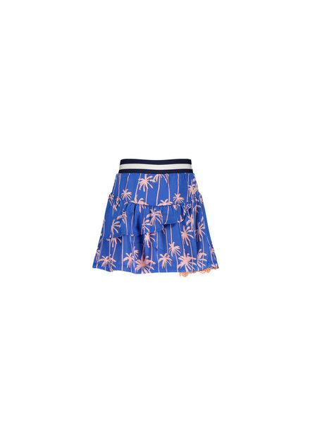 NoNo Navi satin reversible skirt with lace on hem