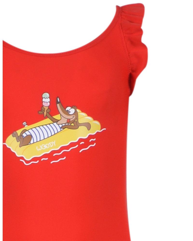 Woody Badpak rood hond